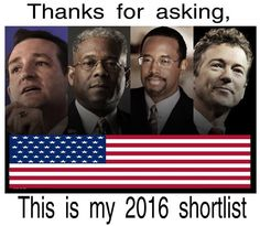 These are the guys we need in charge!  They are patriots who care about My America.