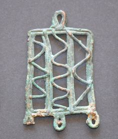 Amlash bronze pendant 17, 1st millenium B.C. Private collection For more Amlash bronze pendants please visit https://it.pinterest.com/andreacanecane/amlash-bronze-pendants/?etslf=4989&eq=pendant