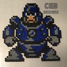 Hard Man Mega Man 3 perler beads by cgbdesigns