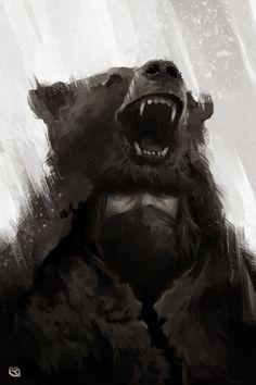 Bear Man by Rob-Joseph on DeviantArt Savage Worlds, Bear Men, Character Inspiration, Weird, Lion Sculpture, Deviantart, Fantasy, Statue, Man Art