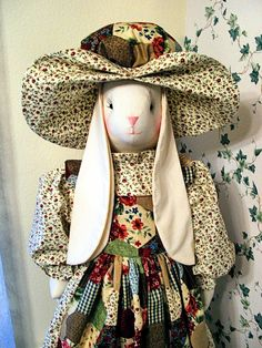 VACUUM CLEANER COVER- Novelty, Upright, Decorative- Bunny Cover- Patchwork and floral print. $75.00, via Etsy.