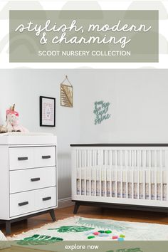 Our best-selling Scoot Collection brings a refreshing take on mid-century modern design. Finding inspiration in geometric designs, both the crib & dresser capture a playful style, perfect for your dream space. Mid Century Modern Design, Geometric Designs, Cribs, Mid-century Modern, Nursery, Stylish, Bed, Inspiration, Furniture
