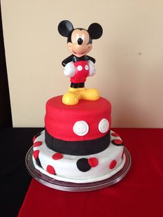 Mickey mouse cake I made for my baby first birthday september 2013