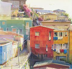 Valparaíso. Cerro Bellavista. Storyboard, South America, Florida, Watercolor, The Originals, World, City, Photography, Painting
