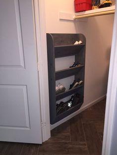Home Decor Bathroom Cool & Clever Shoe Storage Ideas for Small Spaces.Home Decor Bathroom Cool & Clever Shoe Storage Ideas for Small Spaces Shoe Storage Bins, Closet Shoe Storage, Diy Shoe Rack, Storage Spaces, Shoe Racks, Craft Storage, Garage Storage, Wall Storage, Extra Storage
