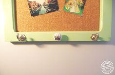 Moldura com cortiça e função de cabide || Frame with cork and hanger function. Happy Ending :)