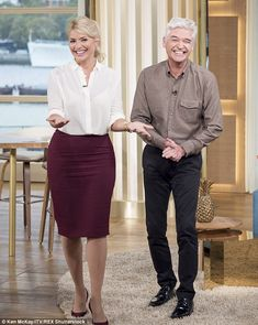 Always laughing! Holly Willoughby and Phillip Schofield proved why they're such a popular pairing as they brought more laughs to the ITV studios during a filming of This Morning on Wednesday