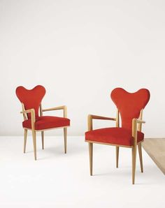 1950s Coeur chairs by Jean Royere