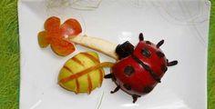 Inšpirácia - ovocná lienka (postup sa zobrazí po kliknutí na obrázok)