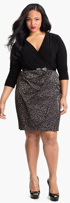 Adrianna Papell plus size cocktail/ date night dress