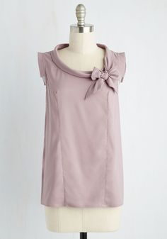 Perfect Architect Top in Lilac. Give your clients a taste of the uniqueness for which you're knownby meeting them in this lilac top! #purple #modcloth