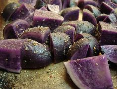 ... Purple Food, Potato Recipes, Healthy Food, Purple Potatoes, Potato