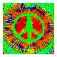 Psychedelic Tie-Dye Peace Sign