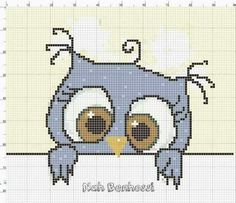 Cross Stitch Owl, Cross Stitch Books, Simple Cross Stitch, Cross Stitch Animals, Cross Stitch Charts, Cross Stitch Designs, Cross Stitching, Cross Stitch Embroidery, Cross Stitch Patterns