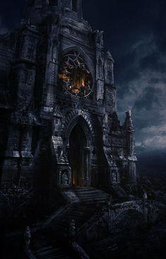 Gothic era castle of vampires: Dark Fantasy, 3d Fantasy, Fantasy Places, Fantasy Setting, Fantasy Landscape, Fantasy World, Gothic Castle, Dark Castle, Fantasy Castle