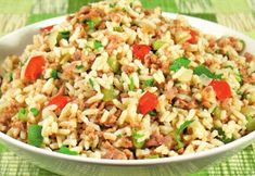 Dirty rice recipe ground beef is delicious recipe for you who love beef. It is nice to eat beef with dirty rice. It will be delicious and special food Dirty Rice Slimming World, Slimming World Recipes, Bob Lung, Dirty Rice Recipe, Healthy Vegetable Recipes, Chicken Livers, Food Staples, Rice Recipes, Gourmet