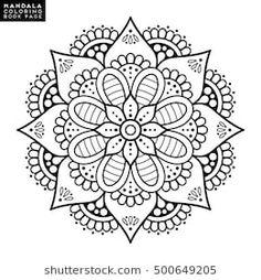 Oriental Pattern Vector Illustration Islam Arabic Indian Moroccanspain Turkish Pakistan Chinese Mystic Ottoman Motifs Coloring Book Page