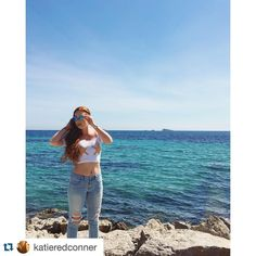 """#Repost @katieredconner """"We were only trying to drown her.""""  Trying to be an @adorkablenews mermaid in #Ibiza. #adorkableapparel #mermaid #redhead #Spain #ispyapi #studyabroad by apiabroad"""