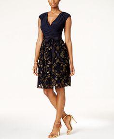 109.00$  Buy here - http://vitys.justgood.pw/vig/item.php?t=tv8ca554508 - Surplice Glitter Embellished Sash Dress