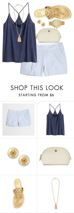 """I'm a (seer)sucker for you"" by marycoulbourn ❤ liked on Polyvore featuring J.Crew, H&M, Tory Burch and Michael Kors"