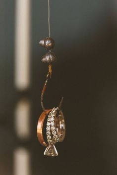 Great picture idea! Wedding rings on a fishing hook!