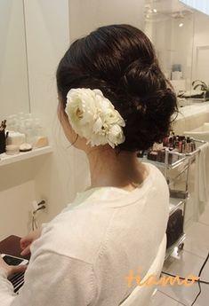 「 黒髪花嫁さまのナチュラルアレンジ3パターン☆リハ編 」の画像|大人可愛いブライダルヘアメイク『tiamo』の結婚カタログ|Ameba (アメーバ)