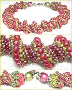 Ajándékok - learn from example: Big bead and bead cap before clasp ~ Seed Bead Tutorials
