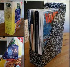 Como hacer una manualidad con caja de cereal