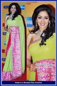 Sridevi Designer Bollywood Saree with Blouse