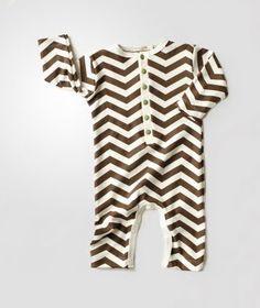 Chevron patterned onesie