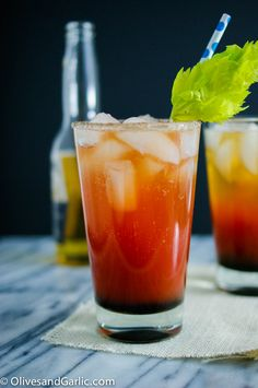 The Ojo Rojo-We had these on our honeymoon in Cabo. Non Alcoholic Drinks, Fun Drinks, Cocktails, Refreshing Drinks, Thyme Recipes, Wine Recipes, Grown Up Parties, Healthy People 2020 Goals, Skinny Recipes