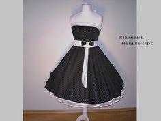 50er-Jahre Kleid zum Petticoat  Vanessa von Schneiderei Heike Borchers auf DaWanda.com