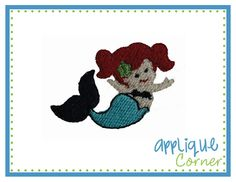 Mermaid Mini Filled Embroidery Design