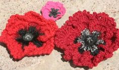 A vibrant poppy pattern. The one on the right reminds me of the double poppies that used to be in our garden.