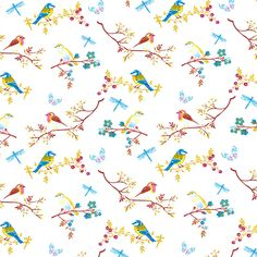 Dolls House Wallpaper 1/12th scale Birds Quality Paper #11