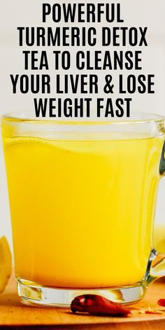 Here is a Strong Turmeric Detox Tea To Cleanse Your Liver & Lose Weight Fast at home! This is one of the best liver cleansing drink to date that actually Liver Detox Cleanse, Detox Your Liver, Detox Diet Plan, Health Cleanse, Liver Detox Juice, Liver Diet, Fatty Liver, Body Cleanse, Full Body Detox