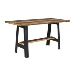 Reclaimed Barnwood Kings Bridge Bar Table Gather around a one-of-a-kind beauty! The Kings Bridge is full of authentic barnwood.