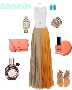 summer, created by mrsshoestir on Polyvore