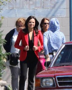 Lana at set today august 21 The premier is so close!!!!!!!!!!!!