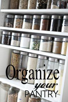 organize pantry