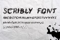 Scribly - a perfectly messy font by Mike Brennan Art & Design on Improve Yourself, Make It Yourself, Let Your Hair Down, Typography Logo, Premium Fonts, All Fonts, Lowercase A, Down Hairstyles, Helping People