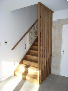 Hardwood closed rise stair with birdcage balustrade