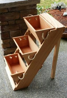 garden kit 2 planter sys 16 Wide Wall raised bed by RopedOnCedar, $58.50