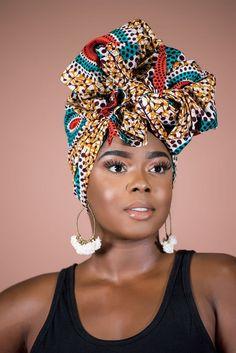 African Print Niche Headwrap | Grass-fields