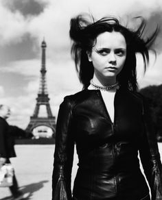 Christina Ricci photographed in Paris by Peggy Sirota for Rolling Stone, December 9th 1999.