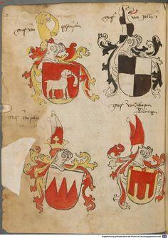 Tirol, Anton: Wappenbuch Süddeutschland, Ende 15. Jh. - 1540 Cod.icon. 310  Folio 52v