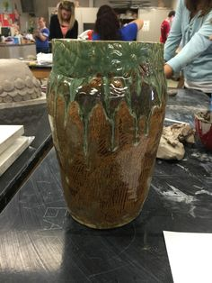 Coil built large base, Intro to ceramics, Seaman High School