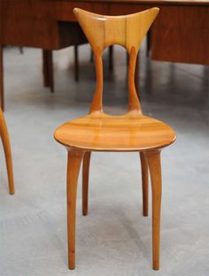 Ragazzini - Aida Chair, limited edition In Excellent Condition For Sale In San Francisco, CA Asian Furniture, Art Furniture, Furniture Makeover, Furniture Design, Cheap Chairs, Chairs For Sale, Velvet Office Chair, Office Chairs, Chair Design Wooden