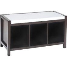 entryway bench with storage - Mozilla Yahoo Image Search Results Entryway Bench Storage, Bench With Storage, Storage Spaces, Upholstered Bench, Furniture Deals, Contemporary Style, Living Room Furniture, Home And Garden, Cushions