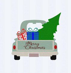 Christmas Antique Truck SVG Vintage truck SVG classic truck svg cut, DXF, eps, png Cut File for Silhouette, Cricut Digital Cut Files by JenCraftDesigns on Etsy